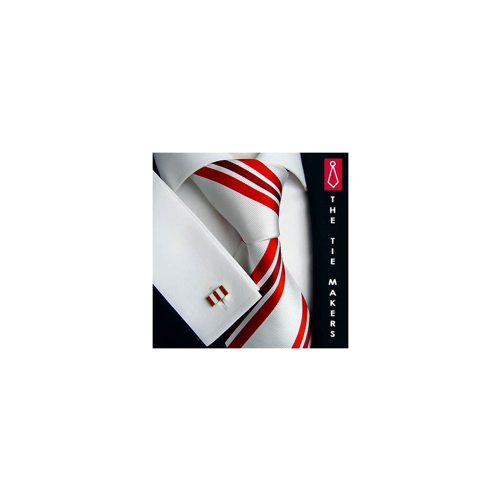 Luxusní pruhovaná hedvábná kravata Beytnur 159-1