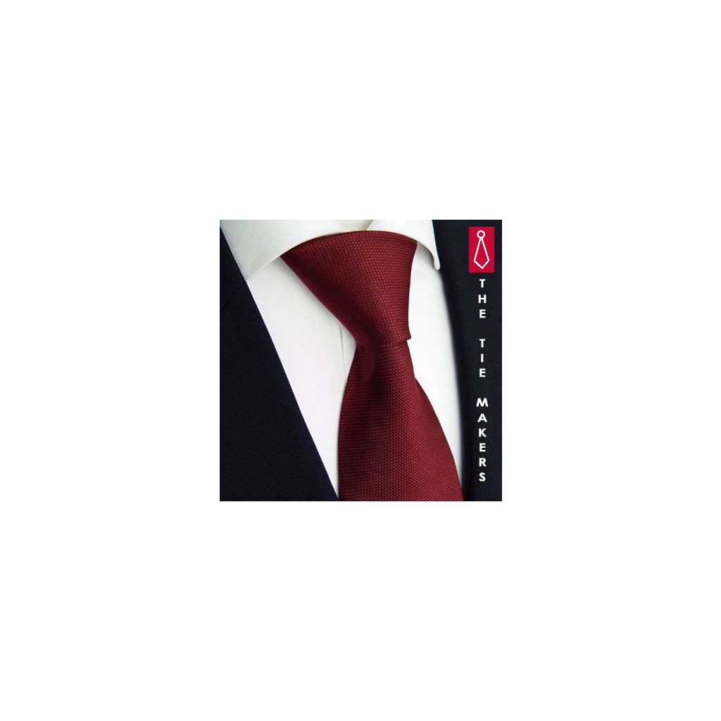 Luxusní vínová kravata Tom Harrison 900-10
