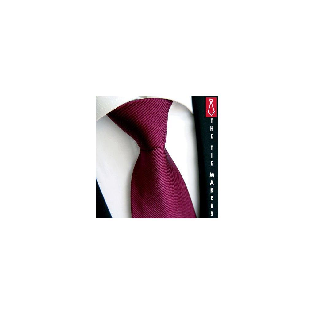 Luxusní vínovo fialová kravata Tom Harrison 900-34