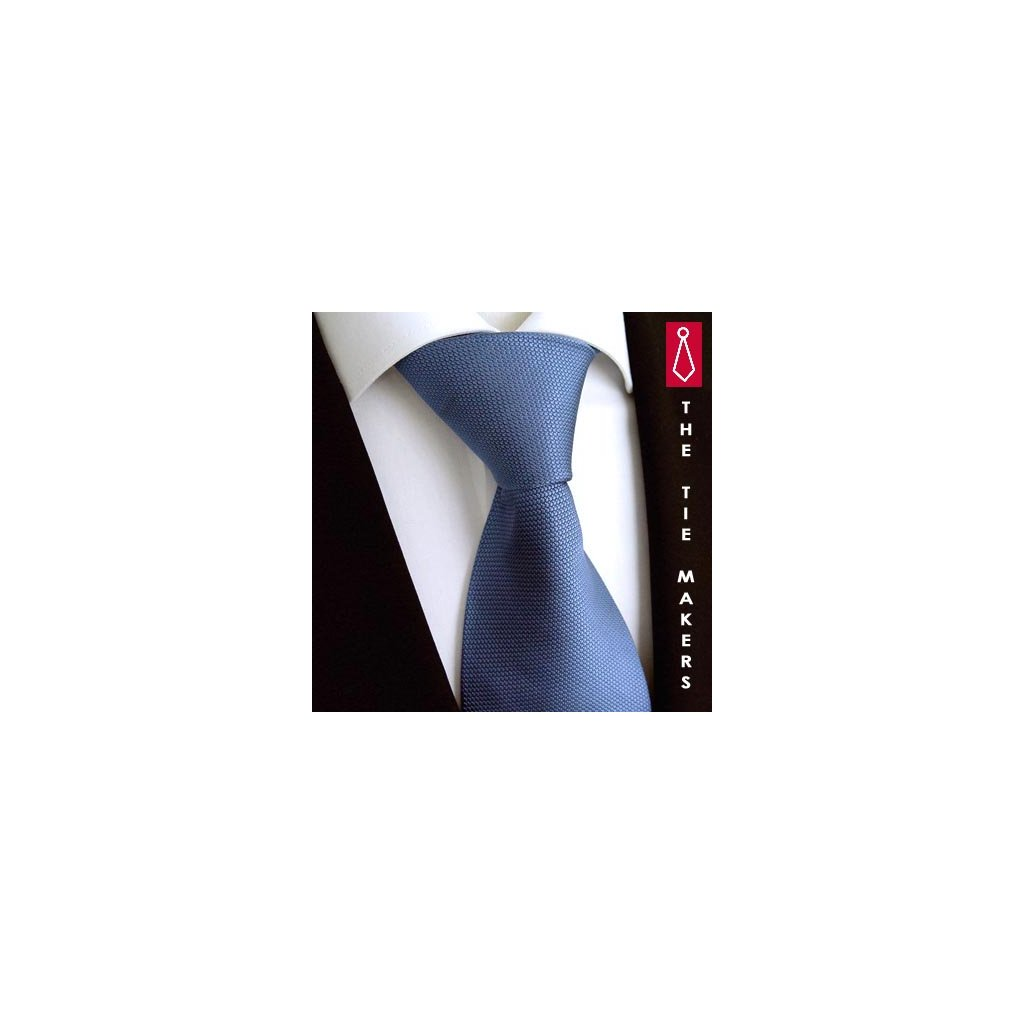Modrá hedvábná kravata Tom Harrison 900-18