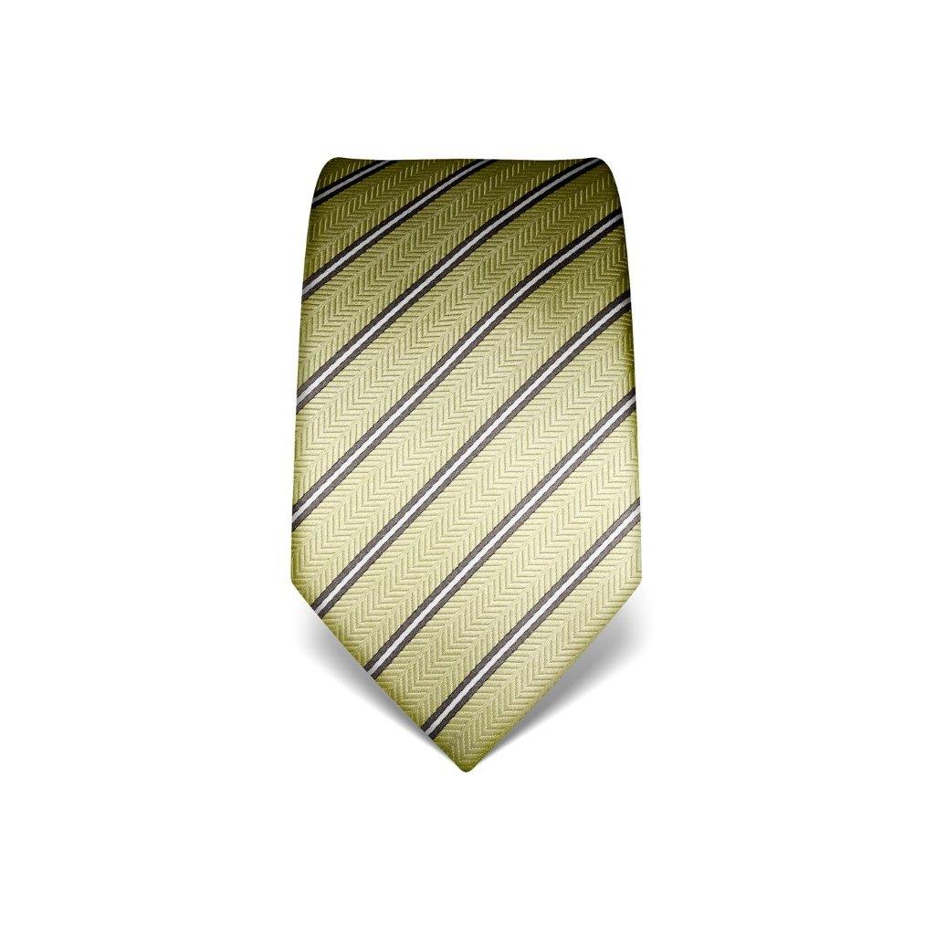 jemně zelená kravata s šedým pruhem