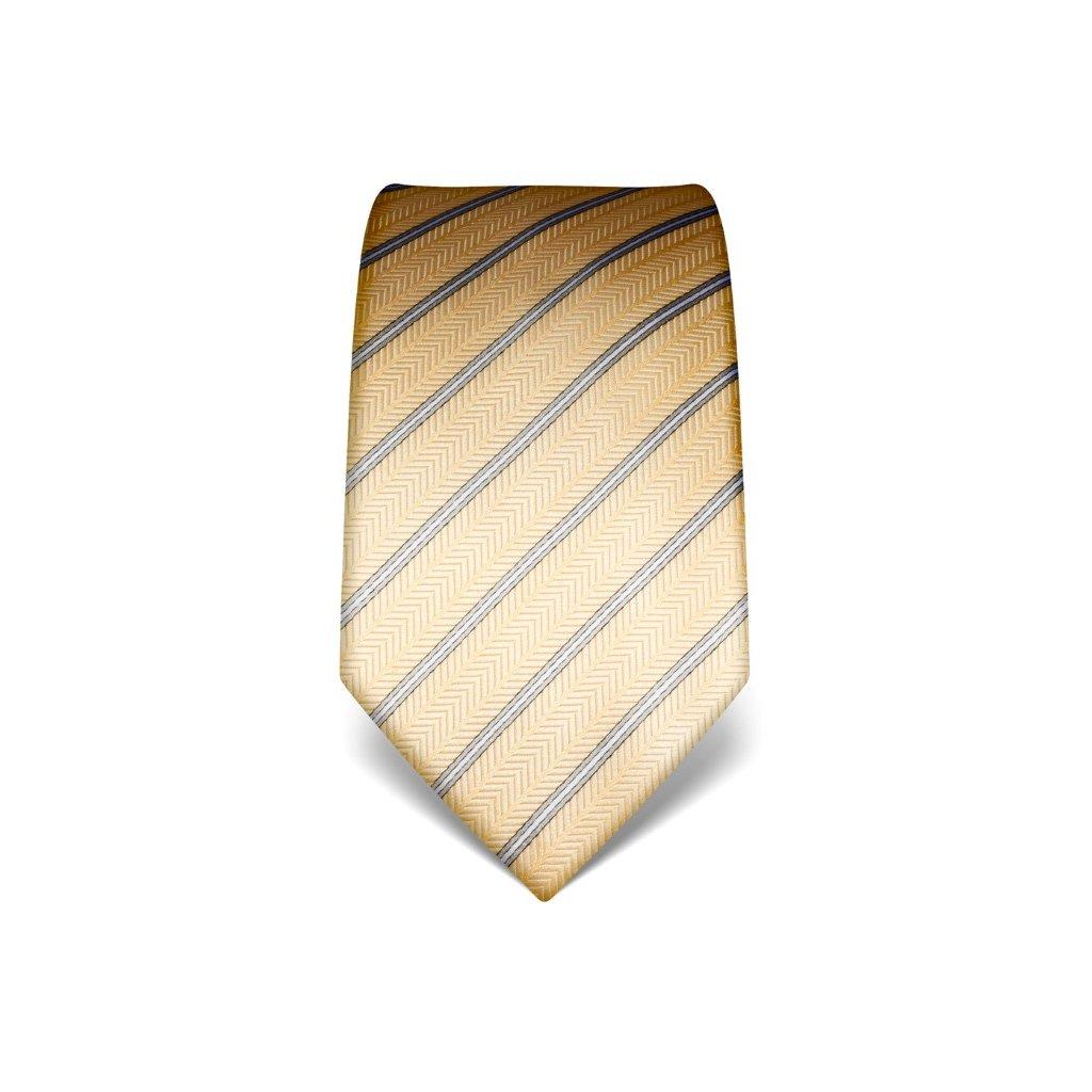 Strukturovaná kravata Vincenzo Boretti 21994 - žlutá