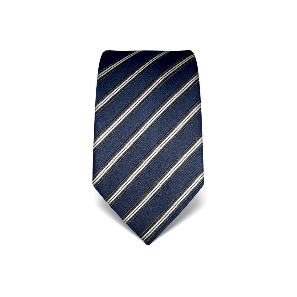 Pruhovaná kravata Vincenzo Boretti 21946 - modrá