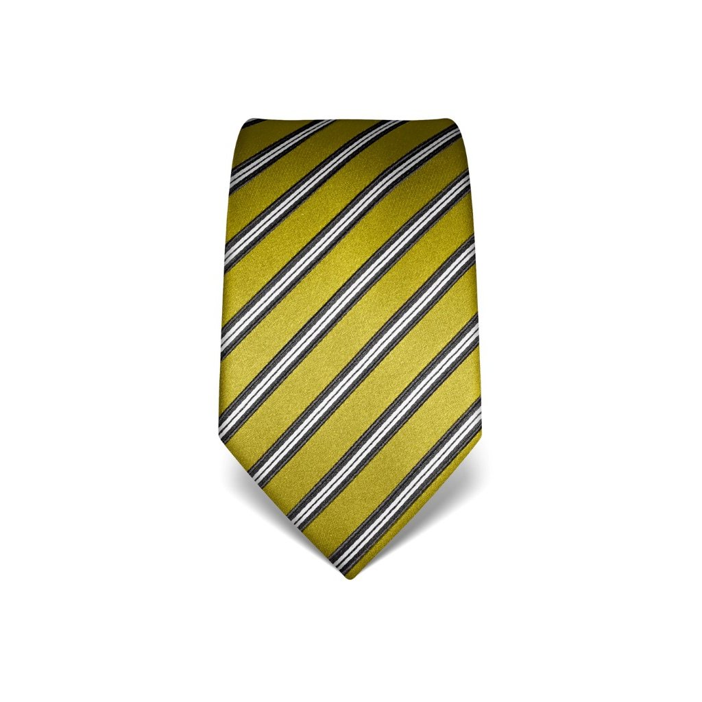 Pruhovaná kravata Vincenzo Boretti 21998 - jarní zelená