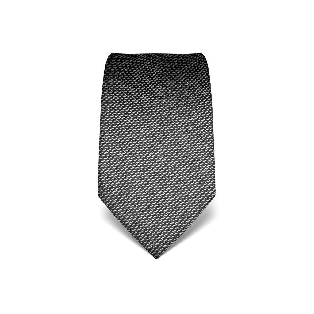 Elegantní antracitová kravata Vincenzo Boretti 21930