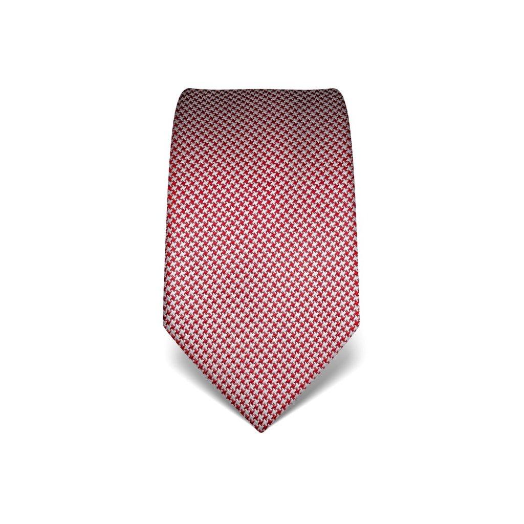 Červená kravata Vincenzo Boretti 21937 - kohoutí stopa
