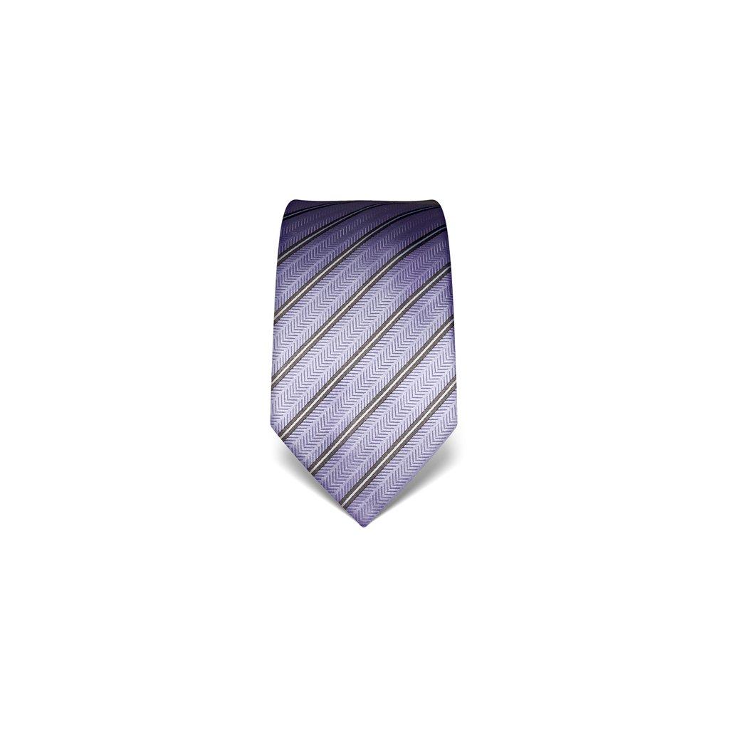 Strukturovaná kravata Vincenzo Boretti 21994 - fialová