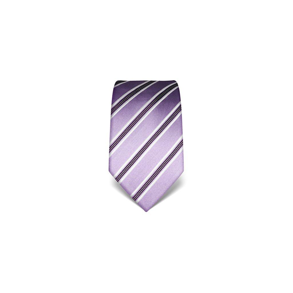 Elegantní kravata Vincenzo Boretti 21954 - fialová s pruhem