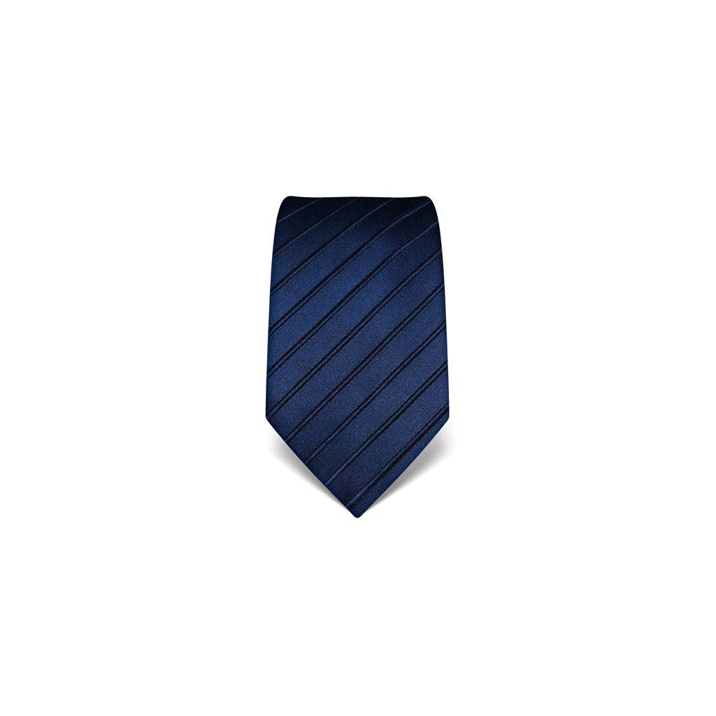 Luxusní tmavě modrá kravata Vincenzo Boretti 21965