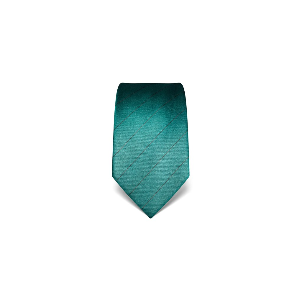 Tmavě tyrkysový kravata s pruhem Vincenzo Boretti 21925