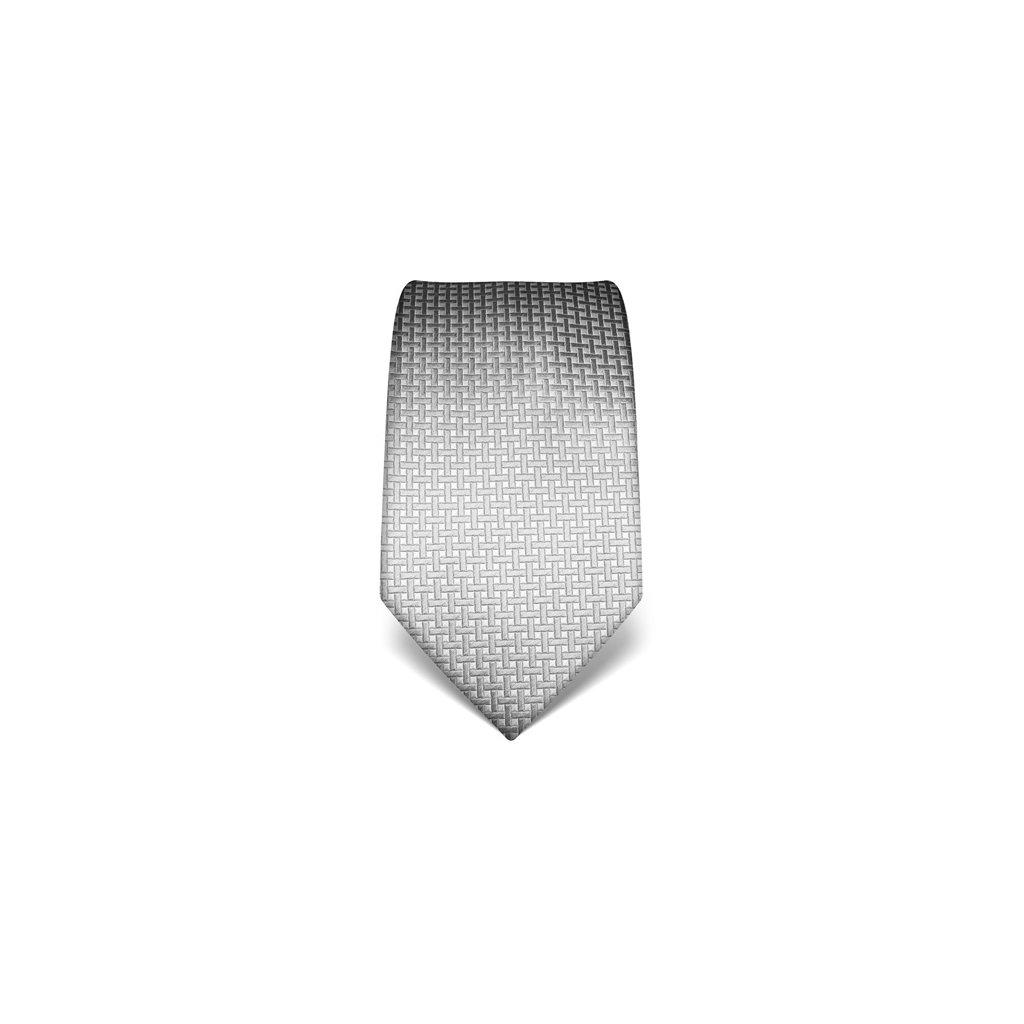 Elegantní kravata Vincenzo Boretti 21938 - šedý čtvereček