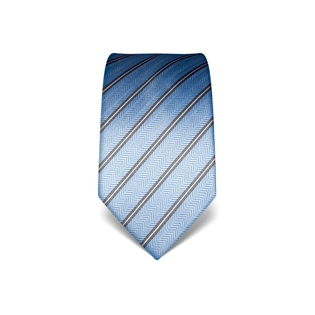 Strukturovaná kravata Vincenzo Boretti 21942 - světle modrá