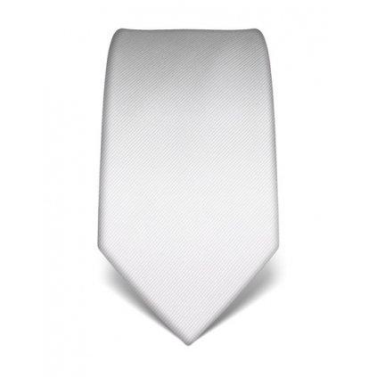 Bílá kravata Vincenzo Boretti 21921 - jednobarevná