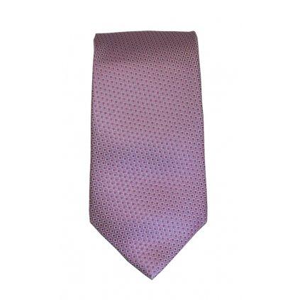 Luxusní kravata Bugatti - růžová kostičkovaná