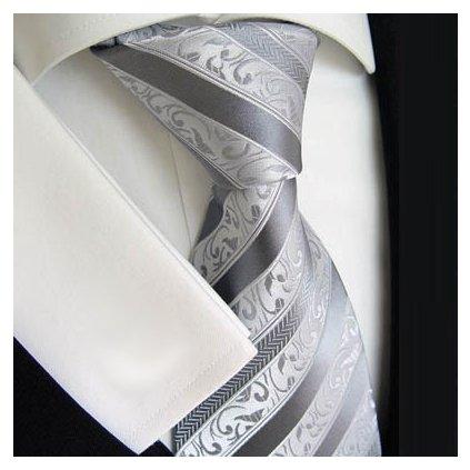 Beytnur 177-5 luxusní hedvábná kravata šedá