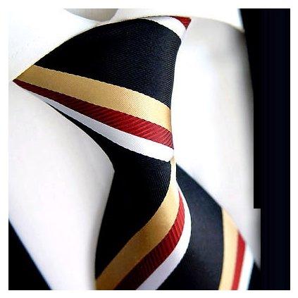 Manažerská hedvábná kravata Beytnur 74-3 černá