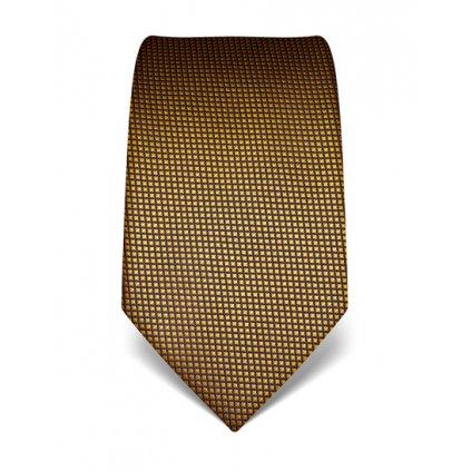 žluto černá kravata s jemným vzorem