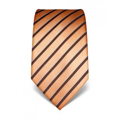 Elegantní kravata Vincenzo Boretti 21952 - oranžová s pruhem