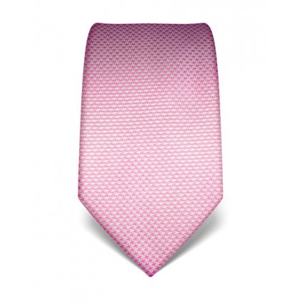 Růžová kravata Vincenzo Boretti 21989 - kohoutí stopa