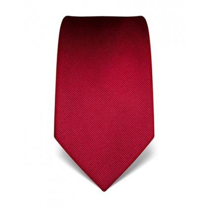 Vínová kravata Vincenzo Boretti 21921 21973- jednobarevná