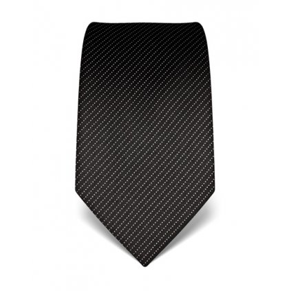 Vincenzo Boretti luxusní černá tečkovaná kravata 21958