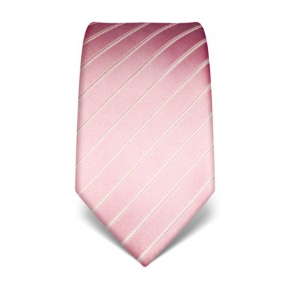 Luxusní světle růžová kravata Vincenzo Boretti 21965