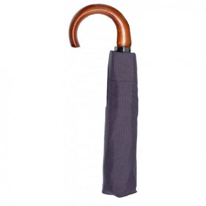 Pánský deštník Doppler AC mini - šedý proužek