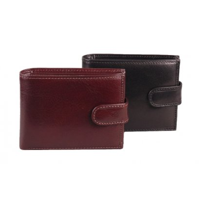 Luxusní pánská kožená peněženka černá