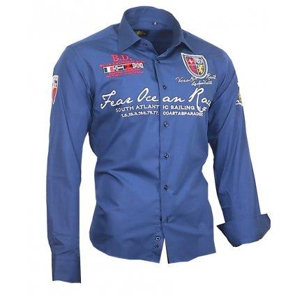 Luxusní pánská košile Binder Ocean - 805-01 modrá 39 40(M) c2d49145c6