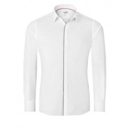 Bílá košile s černým lemem