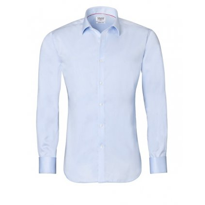 Ledově modrá košile Vincenzo Boretti na manžetové knoflíčky, SF700