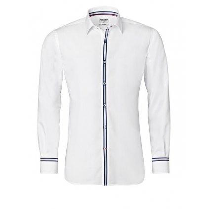 ea91195e362 Bílá košile s modrými doplňky