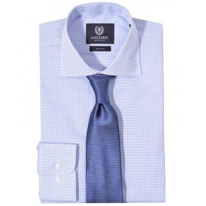 Luxusní modrá košile Gagliardi - kostička
