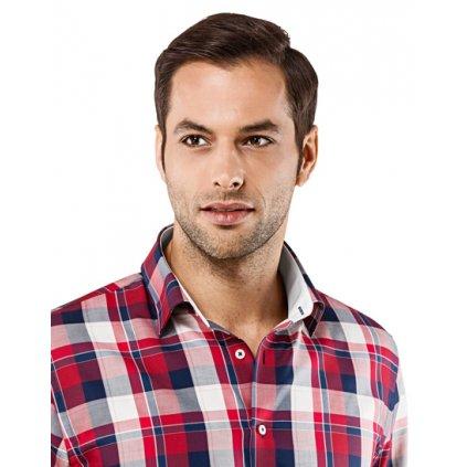 Červeno modrá kostkovaná košile Vincenzo Boretti