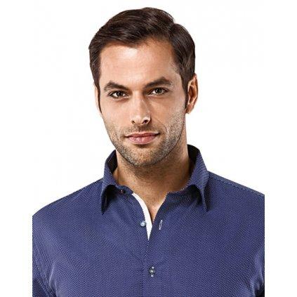 Tmavě modrá košile se vzorem Vincenzo Boretti