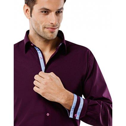 Tmavě fialové košile  Vincenzo Boretti
