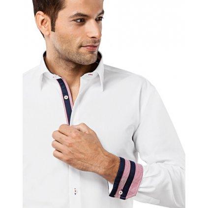Bílá košile s modro červeno modrými doplňky Vincenzo Boretti