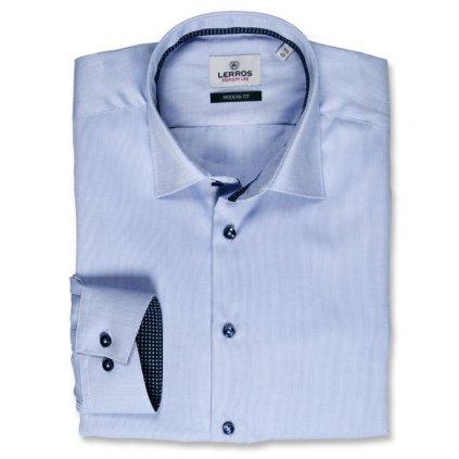 Světle modrá košile Lerros Premium Line - tmavé doplňky