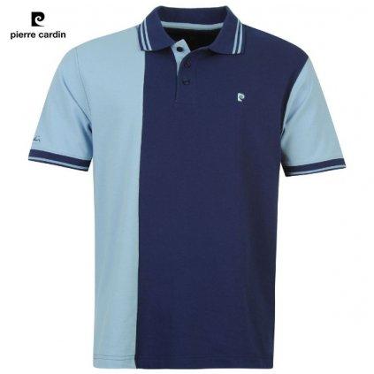 Pierre Cardin modré pánské polo tričko s límečkem S