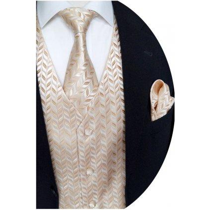 Svatební vesta Beytnur 24-1 kravata, regata a kapesníček