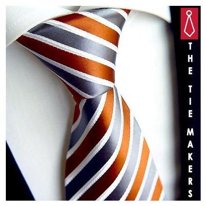 Beytnur 31-8 hedvábná kravata šedooranžová