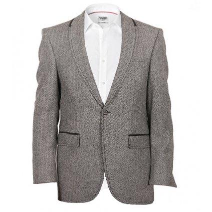 Sportovní pánské sako - šedé