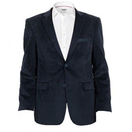 Sportovní pánské sako -  tmavě modré, semiš