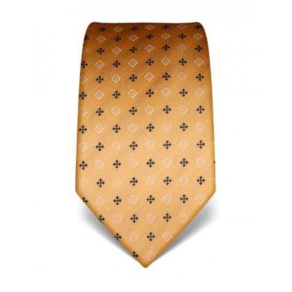 Hedvábná zlatá kravata se vzorem