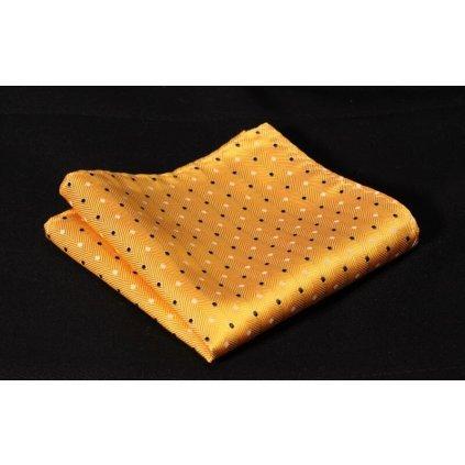 Luxusní hedvábný kapesníček žlutý
