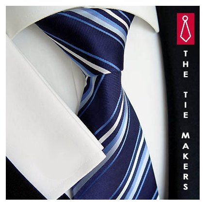 Elegantní hedvábná kravata Beytnur 185-1 modrá