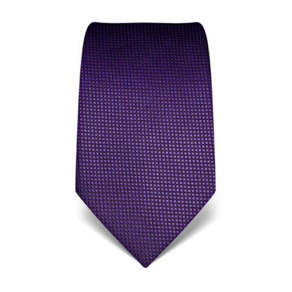 Hedvábná fialová kravata