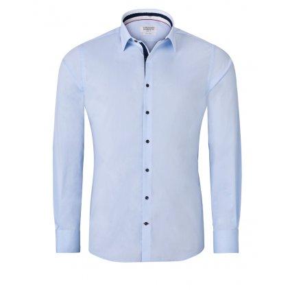 Ledově modrá pánská košile - tmavé doplňky