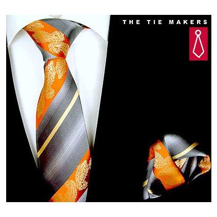 Krásný set kravata a kapesníček Beytnur 206-1
