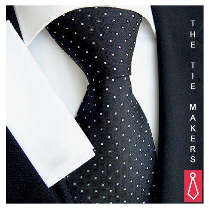 Beytnur kravata 83-1 černá vzor kostička